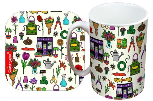 Selina-Jayne Florist Limited Edition Designer Mug and Coaster Set